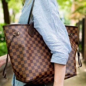 👜⭐️AUTHENTIC⭐️👜 LOUIS VUITTON Damier Neverfull PM Tote Bag